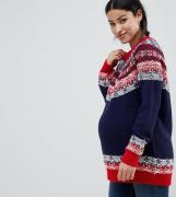 Jersey de grecas alpinas vintage de ASOS DESIGN Maternity