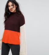 Jersey con diseño colour block de Missguided