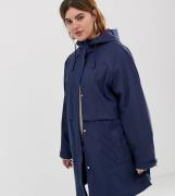 Chubasquero con forro de cuadros cepillado de ASOS DESIGN Curve