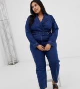 Mono largo vaquero estilo americana con lavado medio en azul de ASOS D...