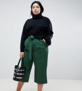 Culottes con cintura anudada Mix & Match de ASOS DESIGN Curve