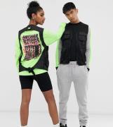 Chaleco de malla unisex con múltiples bolsillos de COLLUSION